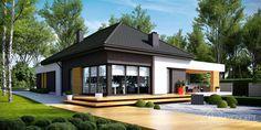 Projekt domu parterowego HomeKoncept 27/ bungalow house. www.homekoncept.pl #projektdomu