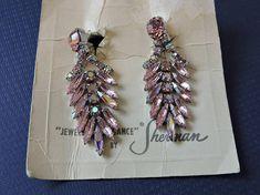 Pink Chanelier Gustave Sherman Screw Back Vintage Sherman Gifts For Him, Vintage Items, Women Wear, Unisex, Drop Earrings, Pink, How To Wear, Jewelry, Fashion
