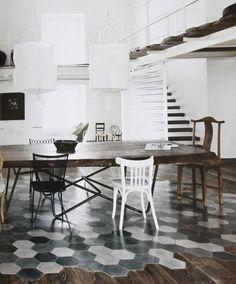 loft, paola navole, living, pavimenti