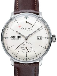 Junkers 6060-5 Bauhaus Automatic Dress Watch with Power Reserve