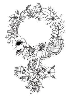 Feminist Flower 2.0 Art Print by Mikaela Puranen