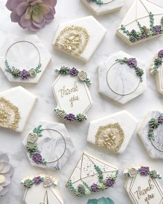 s o p h i s t i c a t e d s u c c u l e n t s • • • • #food #decoratedcookies #baker #royalicing #trend #cookier #sugarcookies… Iced Cookies, Cute Cookies, Royal Icing Cookies, Cupcake Cookies, Decorated Sugar Cookies, Cupcakes, Wedding Cookies, Wedding Desserts, Engagement Cookies