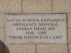 EOD Memorial Brick Eglin AFB, FL   Proud to be a MOM and Mother-n-law of a daughter and son-n-law who both are EOD