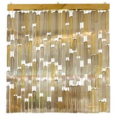 Suspended Murano Glass Elements Screen by Venini | From a unique collection of antique and modern screens at https://www.1stdibs.com/furniture/more-furniture-collectibles/screens/