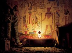 egyptian, crypt, tomb