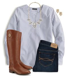 """""""Just Got Back From NYC .x"""" by pulitzer-and-pearls ❤ liked on Polyvore featuring J.Crew, Forever 21, Kate Spade, Abercrombie & Fitch and Tory Burch"""