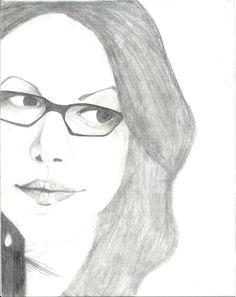 Dibujo a lápiz de Alex Vause (Laura Prepon)