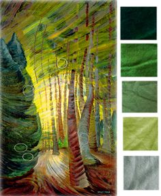 This week's new dyeing recipes on The Welcome Mat inspired by Emily Carr
