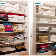 Linen storage ideas