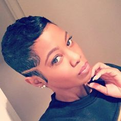 Big Chop Hairstyles, Cute Hairstyles For Short Hair, Pixie Hairstyles, Pixie Haircut, Curly Hair Styles, Natural Hair Styles, Dreadlock Hairstyles, Black Hairstyles, Wedding Hairstyles