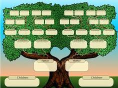 blank family tree for kids