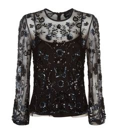 NEEDLE & THREAD Embellished Butterfly Top. #needlethread #cloth #