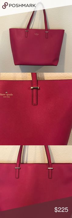 Kate Spade pink  leather large shoulder bag See pictures for two small spots- will likely come out with a good clean! From Brighton the Day blog. No trades. kate spade Bags Shoulder Bags