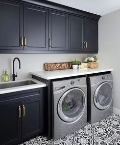 Laundry room signs Laundry room makeover Farmhouse laundry room Diy laundry room… - Top Of The World Modern Laundry Rooms, Laundry Room Layouts, Laundry Room Remodel, Basement Laundry, Laundry Room Signs, Farmhouse Laundry Room, Laundry Room Storage, Laundry Decor, Teen Basement