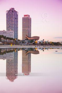 Barceloneta. Barcelona beach city Catalonia