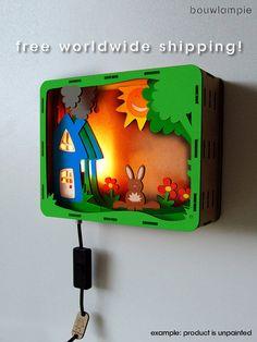 Rabbit Bouwlampie - CUSTOM Do It Yourself (DIY) Children's Night Light