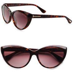 b24e07a537 Tom Ford Eyewear Martina Classic Cateye Sunglasses ( 390) found on Polyvore  Sunnies Sunglasses