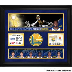 a1b7120a928 Golden State Warriors Fanatics Authentic 2018 NBA Finals Champions Framed  23