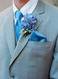 hydrangea | Gray Suit With Blue Silk Tie | photography by http://www ...