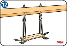 spacer (A) with the same cross-section as the top bar. This spacer ensures that when we assemble the top bar, it fits precisely into the A Frame Swing Set, Porch Swing Frame, Swing Set Plans, Backyard Swing Sets, Diy Swing, Outdoor Wooden Swing, Outdoor Wood Projects, Wooden Swings, Wood Toys Plans