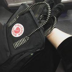 All black everything    #backpack #fashion #kanken
