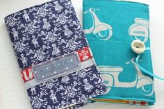Notebook fabric cover tutorial