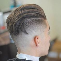 Men's Undercut Hairstyle - Long Slick Back with Bald Fade