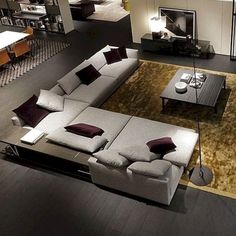 modern living room decoration leather sofa curved grain round for expression of love 11 Corner Sofa Design, Living Room Sofa Design, Living Room Sectional, Interior Design Living Room, Living Room Designs, Drawing Room Interior, Interior Livingroom, Sectional Sofas, Living Room Modern