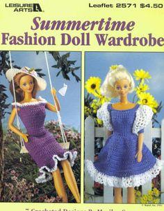 Crochet summertime fashion doll wardrobe.