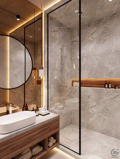 Bathroom Design Luxury, Modern Bathroom Decor, Modern Farmhouse Decor, Budget Bathroom, Simple Bathroom, Modern Bathroom Design, Bathroom Ideas, Minimal Bathroom, Modern Bathrooms