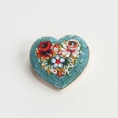 BLUE HEART BROOCH | the Weaver House