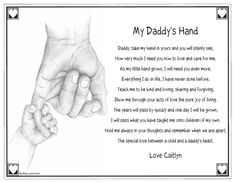 """My Daddy's Hand"" and ""Grandpa's Hand"" Keepsake Prints - Personalised Prints - Your Home 