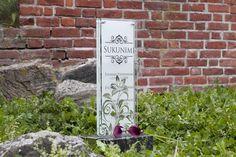 Lasinen hautakivi (malli Hile) Glassy memorial stone / Grave stone glass (model Hile) Voss Bottle, Water Bottle, Memorial Stones, Malta, Memories, Glass, How To Make, Beautiful, Memoirs