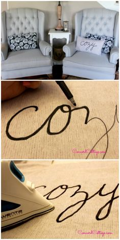 Easy to make and customize word pillow