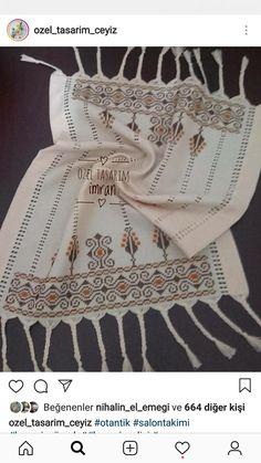 Hardanger Embroidery, Embroidery Patterns, Bargello, Moda Emo, Cross Stitch, Towels, Needlepoint Patterns, Punto De Cruz, Seed Stitch