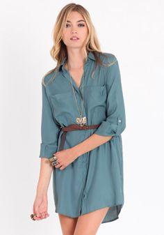 City Days Belted Shirt Dress. #fashion #style #dress