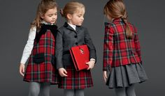 Back to School: Get Revising Your Trends - Dolce Childrenswear Fall Winter 2014 Collection For Back to School 2013 Tartan Blazer Dress and Skirt