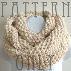 Cowl Knitting Pattern PDF for The READER by betsyDesign on Etsy, $4.00