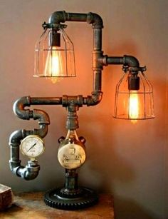 Lampade in stile steampunk