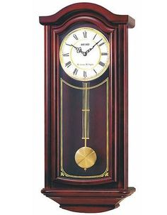 Seiko Cherry Wood Finish Pendulum Wall Clock