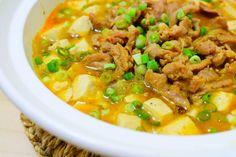 肉片豆腐煲食譜、作法 | 小晴的多多開伙食譜分享