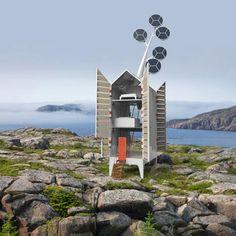 Studio Hollandais Tjep - une micr-o maison autonome avec un arbre solaire sur le toit