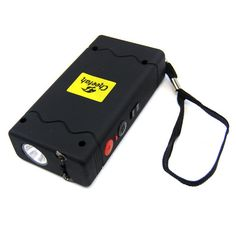 Defender Force 10 Million Volt Stun Gun Rechargeable LED light Self Defense - Black
