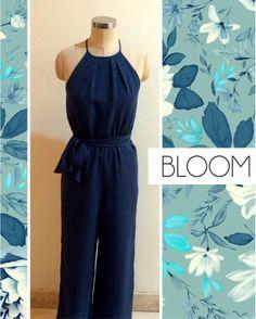 Grab this amazingly elegant navy blue jumpsuit that makes you look fab. #Shopbloom #DelhiFashion #DlfSaket
