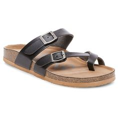 Women's Mad Love Prudence Footbed Sandals - Black 7