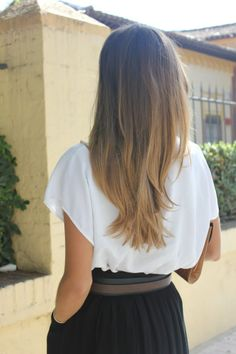 her ombre hair is perfect