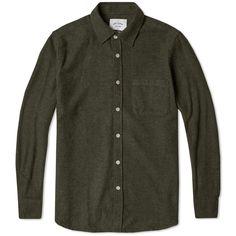 Portuguese Flannel Boavista Shirt (Olive Melange)