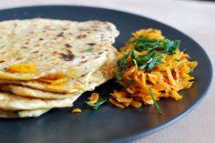 Fotorecept: Mrkvová paratha- indické mrkvové placky