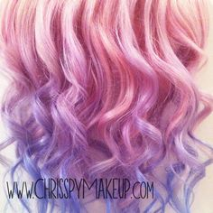 Pretty curls+ pastel colors= awesomeness :)