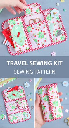 PDF Travel Sewing Organizer Pattern & Tutorial Travel Sewing Kit Pattern Sewing Tools Case Sewing Room Notions DIY Gift for Seamstress Sewing Notions, Sewing Tools, Sewing Hacks, Sewing Tutorials, Sewing Crafts, Sewing Kits, Sewing Stitches, Sewing Patterns, Sewing Elastic